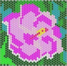 free beading patterns | Free Bead Pattern Hibiscus Flower in Peyote Stitch