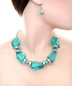 Jewel Necklace and Earring Set