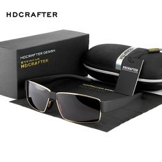 HDCRAFTER High Quality Polarized Sunglasses Men Luxury Brand Aviador Man  Strong Legs Polaroid Lens Eyewear with Case a4673c963c