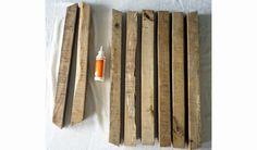DIY pour fabriquer une table à manger rustique - Table pour salle à manger - 18h39.fr Grande Table A Manger, Bois Diy, Diy Table, Deco, Texture, Wood, Crafts, Tables, Rustic Dining Table Set