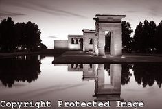 Templo de Debod in Black and White in Madrid, Spain from www.kevingeorge.photoshelter.com