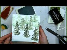 Creating Snowbanks and Snowball Sponging Effects Lovely As A Tree stamp used here