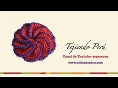 Flor espiral - Tejiendo Perú