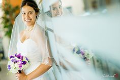 Beautiful shot of the bride
