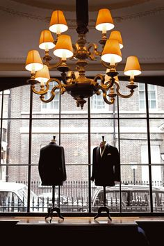 Front display in typical Savile Row showroom