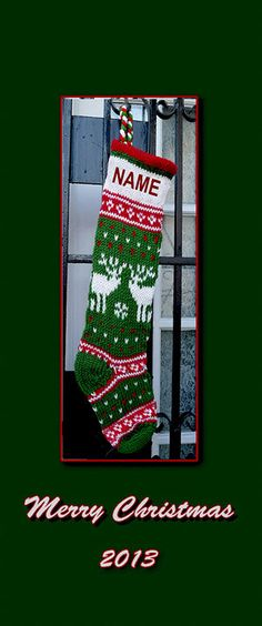 10 Christmas Stocking Knitting Patterns | Knitted christmas stocking ...