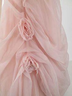 1950 auténticos Pink gasa de la bola del vestido de los años 50 vestidos formales Vintage - Vintage Blue Velvet