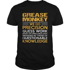 GREASE MONKEY T-Shirts, Hoodies. ADD TO CART ==► https://www.sunfrog.com/LifeStyle/GREASE-MONKEY-122233295-Black-Guys.html?41382