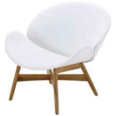 Gloster Dansk Lounge Chair White Leather 33 400 Mxn Liked On Polyvore Featuring