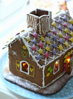 This Christmas' gingerbread house, made with my son