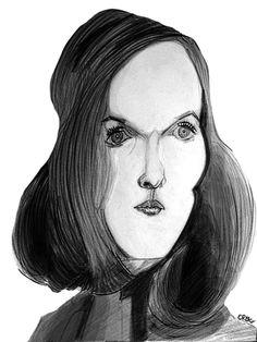 Caricature de Meryl Streep jeune!