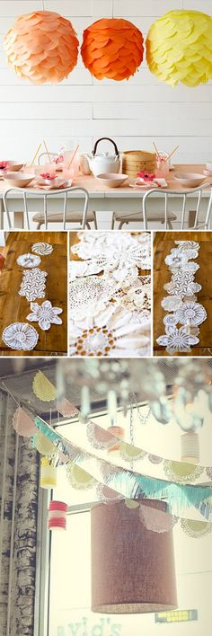 This week it's a short but sweet collection of paper and lace DIY's from around the interweb showing just how versatile these budget beauties can be :) I'm totally in love with the lanterns as a slightly more modern take on poms - I can see these looki...
