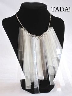 blah: empty plastic food boxes/TADA!: fringe necklace