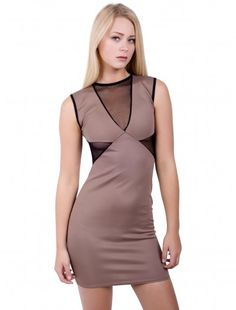 Womens Fashion V Mesh Sleveless Dress  Wholesale Price:  Now: £4.54 tax excl. Was: £6.49 tax excl.  #fashionwholesaler #londonfashion #sale #dress #ladiesfashion  #enjoythesale