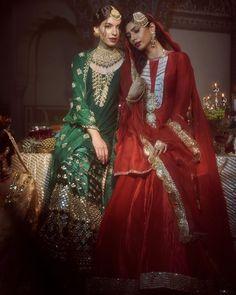 Green And Red Abhinav Mishra Lehengas Indian Bridal Outfits, Pakistani Wedding Outfits, Pakistani Wedding Dresses, Pakistani Dress Design, Shadi Dresses, Indian Dresses, Walima Dress, Indian Clothes, Desi Wedding Dresses