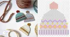 Beadweave Beanies - The Violet Ink Ich gestehe, dass . Seed Bead Tutorials, Beading Tutorials, Bead Embroidery Jewelry, Beaded Embroidery, Peyote Patterns, Beading Patterns, Jewelry Patterns, Beading For Kids, Motifs Perler
