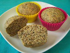 Citroen-maanzaad muffins, koolhydraatarm, vegetarisch, veganistisch, zonder melk, zonder ei