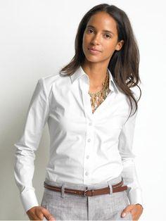 camisa blanca mujer - Google Search
