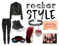 """""""Rocker Styled Chic"""" by teal-steal10 ❤ liked on Polyvore featuring River Island, Paige Denim, Moschino, Lord & Taylor, rockerchic and rockerstyle"""