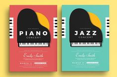 Piano Concert Flyer by Guuver on @creativemarket