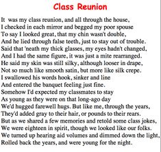class reunion memorial poems  found on jhsclassclassquestcom  twas the night before my class reunion school reunion decorations reunion  centerpieces class reunion