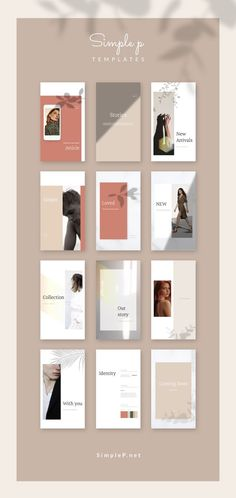 Simple & Minimal Template🌷 Glory Social Media Pack is a multi-purpose pack t. Social Media Branding, Social Media Design, Social Media Marketing, Digital Marketing, Web Design, Layout Design, What Is Fashion Designing, Photoshop, Design Graphique