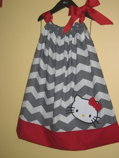 Custom Chevron Pillow Case Dress w/Character by CutePolkaDots, $24.00