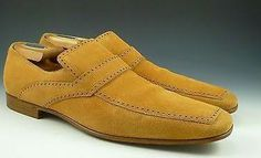 Gucci Sz 10 Suede Apron Toe Loafer 154019 Mens Light Brown Fits Us 11 $595