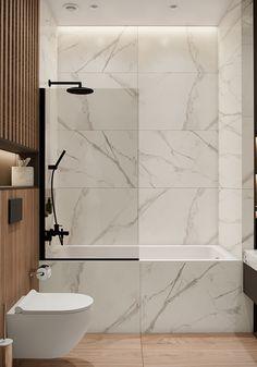 Minimalist Bathroom Design, Bathroom Design Luxury, Modern Bathroom Decor, Modern Bathroom Design, Home Interior Design, Small Bathroom, Bathroom Design Inspiration, Behance, Bedroom Colors