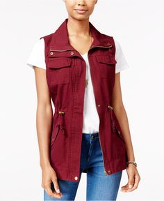 American Rag Utility Vest, Only at Macy's - Juniors Jackets & Vests - Macy's
