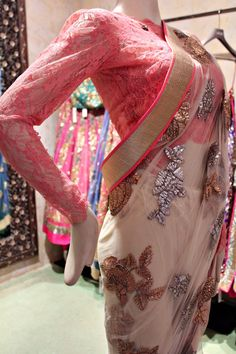 Isn't the pink blouse in delicate net just pretty!