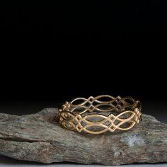 Celtic gold ring - promise ring
