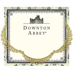 Downton Abbey® Gold-Tone Scalloped Collar Necklace