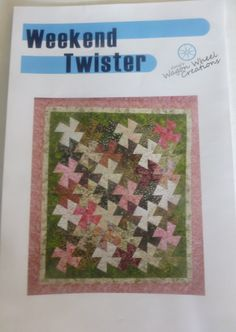 """Pattern~Quilt~Weekend Twister~ 68 1/2"""" x 76""""~ Use Twister Tool(Not Included) Fast Shipping PT244"""