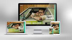 Website voor Agent Orange - realisatie van Scoop Creatieve Communicatie - grafisch ontwerp door Agent Orange Magazine Rack, Website, Storage, Home Decor, Purse Storage, Decoration Home, Room Decor, Larger, Home Interior Design