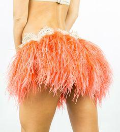 Ostrich Feather Burlesque Dance Skirt   Baby by TheLalasBurlesque, $169.99