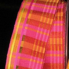 """Semi Sheer Red, Pink and Yellow Plaid Pattern Wired Craft Ribbon 1.5"""" x 54 Yards * Find out more about the great product at the image link."""