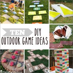 10 DIY Outdoor Games http://www.atypicalenglishhome.com/2014/05/10-diy-outdoor-games.html