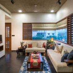 Image 1 of 29 from gallery of The H Cube House / Studio Lagom. Courtesy of Studio Lagom Indian Home Interior, Home Interior Design, Interior Architecture, Kerala Architecture, Interior Designing, Ethnic Home Decor, Indian Home Decor, Living Room Designs, Living Spaces