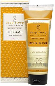 Deep Steep Shea Butter Body Wash, Tangerine Melon, 8.0 Ounces