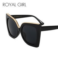 ROYAL GIRL Women Sunglasses Newest Vintage Gradient Lens Acetate Frame  Brand Design Sun Glasses Oculos De Sol UV400 SS668 dcd5a71e61