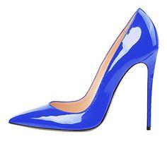 Guoar Women's Stiletto 120mm Pointed Toe PU Patent