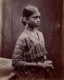 Blouse - Young Tamil girl in Choli