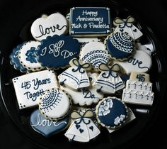 Icings by Ang: Wedding & Bridal Shower Cookies - love the henna-like patterning