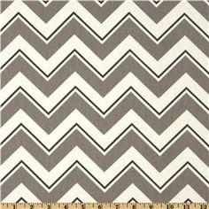 Suburban Chevrama Greystone - fabric.com