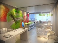 Nutrition For Cancer Patients Clinic Interior Design, Spa Interior, Clinic Design, Modern Office Desk, Home Office Decor, Zen Place, Cabinet Medical, Medical Office Design, Hospital Design