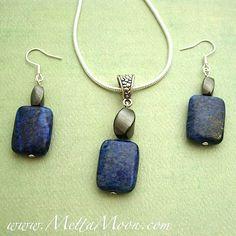 MettaMoon Blue Magnet Necklace & Earrings Set $39