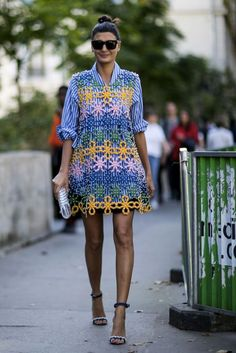 Giovanna Battaglia Street Style at Paris Fashion Week SS17 #Giovanna_Battaglia #Fashion #Women_Style