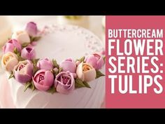 Cherry Blossom buttercream flower wreath cake - how to make by Olga Zaytseva /CAKE TRENDS 2017 #12 - YouTube