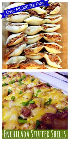 Enchilada-Stuffed-Shells http://www.lifewiththecrustcutoff.com/enchilada-stuffed-shells/